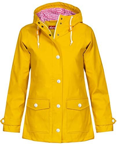 derbe Damen Regenmantel, Farbe:gelb, Größe:44