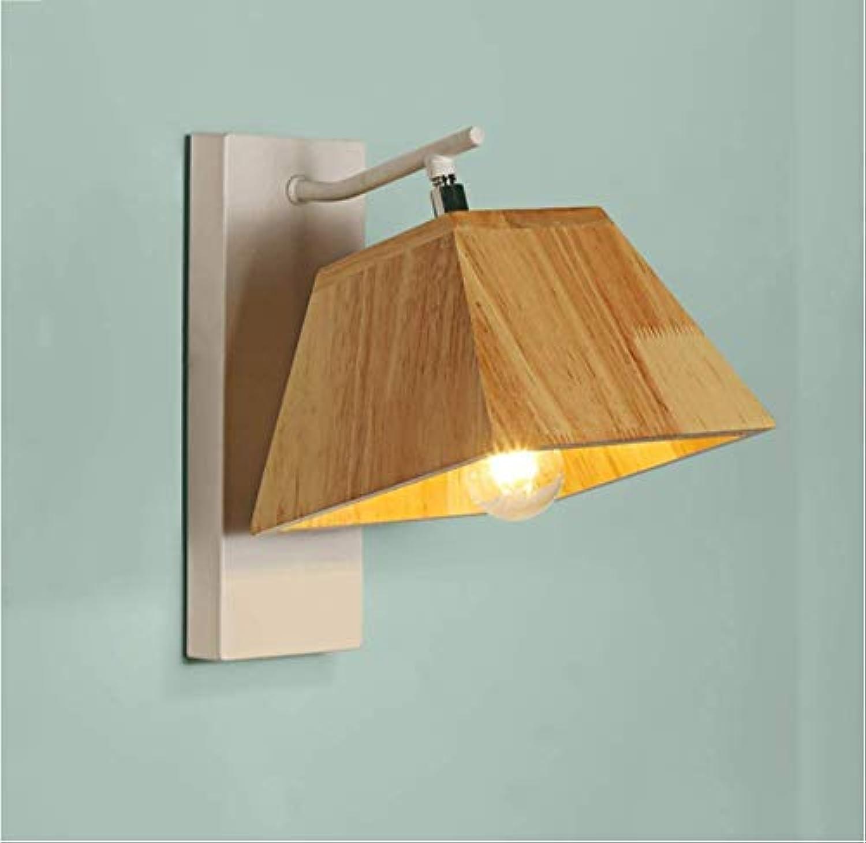 Wandlampe Flur Schlafzimmer Nachttischlampe einfache originale Hotel Ganglichter aus Holz
