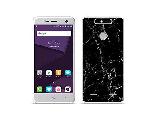 etuo Handyhülle für ZTE Blade V8 Mini - Hülle Fantastic Case - Schwarze Marmor - Handyhülle Schutzhülle Etui Case Cover Tasche für Handy