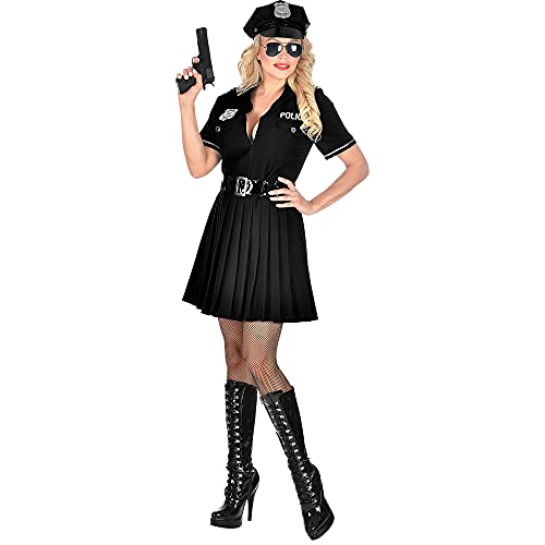 Widmann 11012872 Kostüm Polizistin, Damen, Schwarz, M