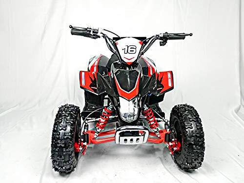 Mini quad de gasolina con motor de 49cc de 2 tiempos -ATV20 PANTERA. / Mini quad para niños de 5 a 12 años/miniquad infantil (ROJO)