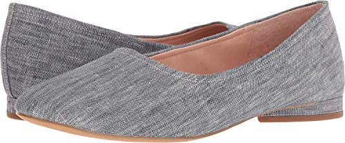 Avec Les Filles Womens Myrina Denim Slip On Ballet Flats Blue 10 Medium (B,M)