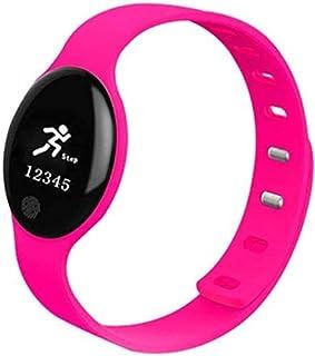 Gymqian Fitness Tracker Smart Bracelet Sleep Monitoring Smart Recordatorio Podómetro Motion Control Remoto Auto-Timer Pink Sport Fitness Tracker Exclusivo