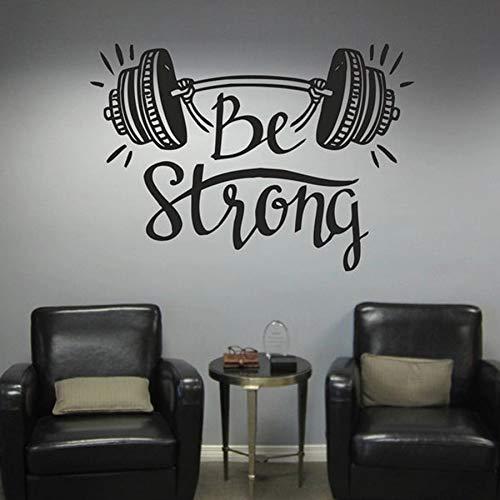 LKJHGU Starke Fitness Schlafzimmer Wandaufkleber Home Dekoration Gewichtheben Übung Sport Bodybuilding Fitness Vinyl Wand