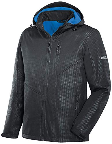 Uvex 9890 Herren-Softshelljacke - Wetter- & Regenjacke - Schwarz/Blau - Gr. 6XL
