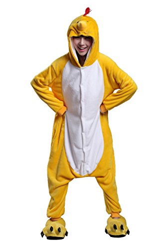 FashionFits Unisex Adult Animal Costumes Cosplay Pajama Chicken Onesies Nightwear L