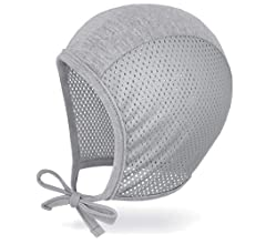 3m 6m 12m JELLYTREE Baby Hat Bonnet Soft Mesh Infant Toddler Beanies Pilot Caps Boys Girls Hearing Aid Hats