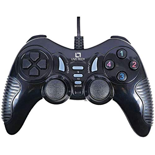 Live Tech Turbo Double Vibration Game Pad GP 01(Black)