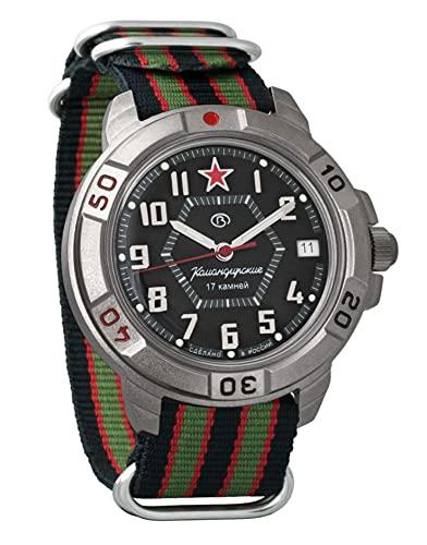 Vostok Komandirskie Mechanical Hand-Winding Mens Wrist Watch #744...