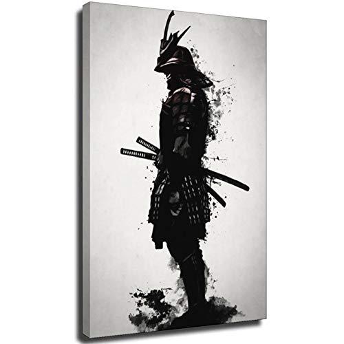 Arte de pared pintura decoración del hogar Samurai blindado Japón anime impresiones en lienzo Cuadros Modular Nordic Poster para sala de estar Marco-estilo1 8 × 12 pulgadas (20 × 30 cm)