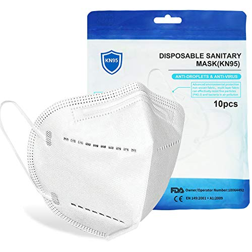 5-Layer Protective Comfortable Face Mask with Adjustable Nose-Bridge(10 PCS)