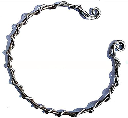 Hand Forged Iron Torc Celtic Necklace Viking Torque Silver