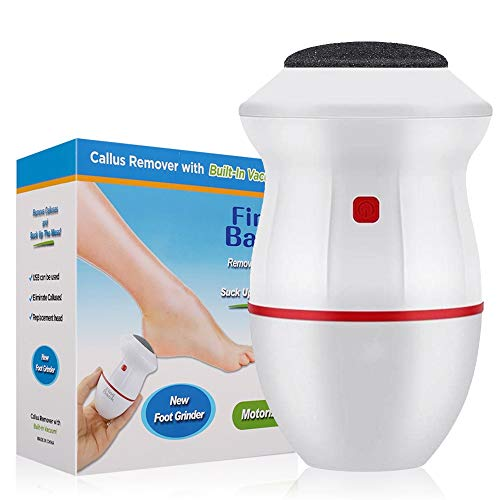 SILINICE Electric Callus Remover Hard Skin Eliminator Shaver Professional Foot File Grinder Feet Care Sander for Cracked Heels Dead Skin (Red)
