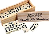 Jaques of London - Double Six Dominoes mit Spinnerinnen -