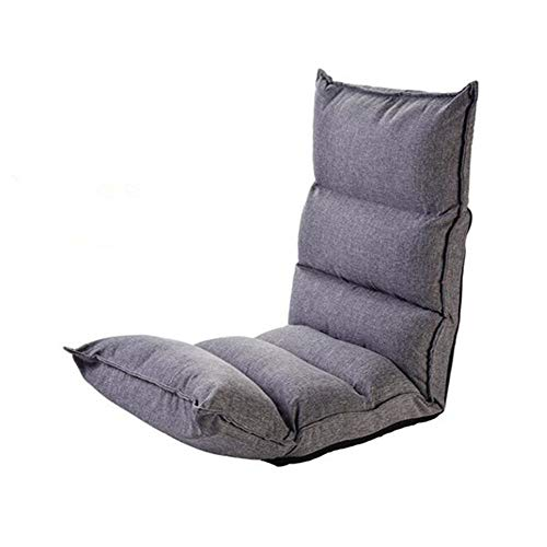 Sofa GJDBBLY Moderne gestoffeerde chaise lounge Binnenkamer Ligstoel 2 kleuren Vloer Slaap Dag Bed Stoel Zoals afgebeeld-1 grijze kleur
