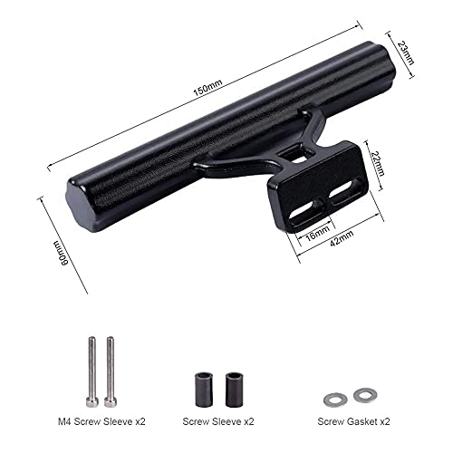 WHCL Bike Handlebar Extender, Aluminum Alloy Bicycle Handlebar Extension Bracket, Bicycle Stem Tube Extension, Space Saver for All Bicycles,Silver