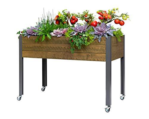 "CedarCraft Elevated Spruce Planter – Brown (21"" x 47"" x 32"