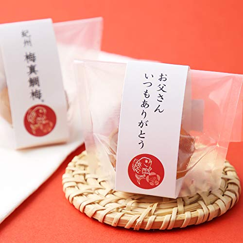 岩谷 父の日のし付き 紀州 梅真鯛梅 5個入り 梅で鯛 贈答 手土産 プレゼント 贈り物 紙袋付き