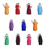 Trebien Total 11Pcs Babero Delantal de Color Liso Para Mujeres Adultas o...