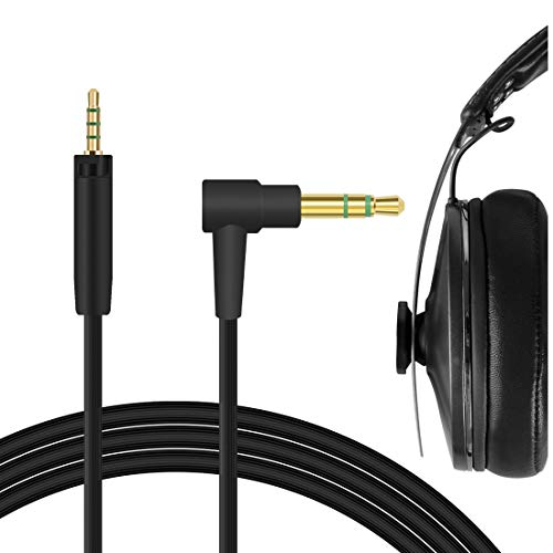 Geekria QuickFit - Cavo audio per cuffie Sennheíser Momentum 3 Wireless, Momentum 2.0, Momentum 2.0 On-Ear, Momentum Cavo per cuffie da 2,5 mm a 3,5 mm, con chiusura a scatto (1,5 m)