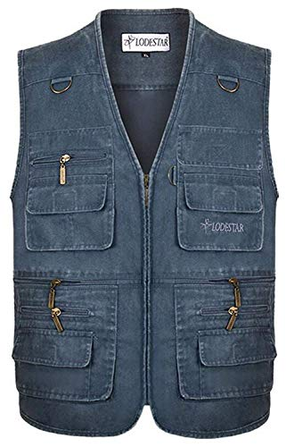 Adelina vest Classic effen mantel multi-tas jas met jongens outdoor licht ademend onderhemd heren jeans vest
