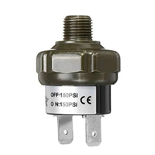 KASILU Jidian48 Nuevas válvulas Interruptor de Aire Control de presión de Control de presión Válvula de Interruptor Que Amenaza el Deber 70 90 100 120 150 180 PSI Reemplazo (Color : 150 180Psi)