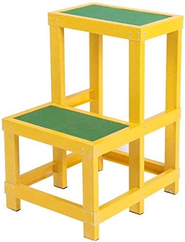 Tritthocker -Isolierter Leiter, Zwei Schicht-Fuß-Plattform Stehleitern Hocker Rollleiter/Anti-Blockier-System Pedal Klettere die Leiter hoch (Size : 30 * 50 * 80cm)
