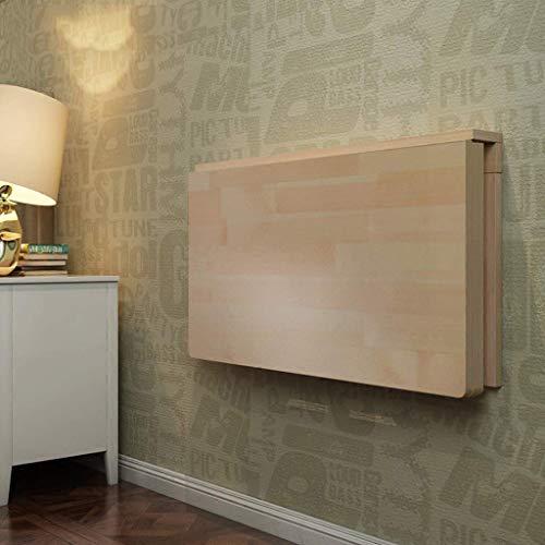 ZXYY Solid Wood Wandmontage Computer Bureau Wandplank Drijvende Plank Koffie Winkel Restaurant Tafel Leren Tafel Ruimte Opslaan Eenvoudige Bureau Notebook Bureau Opvouwbaar (Maat: 60 * 40) 100 * 50