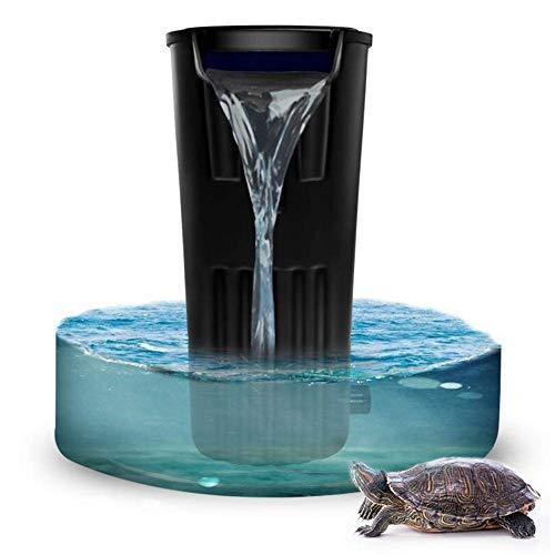 B&MF Tortuga Filtro de Cilindro-bajo Nivel de Agua Cascada pequeño Acuario Ultra-silencioso Integrado en el purificador de Agua [Clase de energía A]