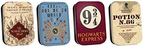 Harry Potter TIN4HP02 Boite Intemporelles (Lot de 4) - Carte Multicolore