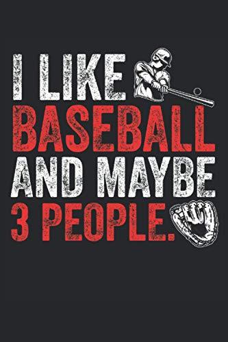 Notizbuch : Baseball, Baseballspieler, Baseballschläger: 120 Seiten liniert - Notizbuch, Skizzenbuch, Tagebuch, To Do Liste, Zeichenbuch, zum planen, organisieren und notieren.