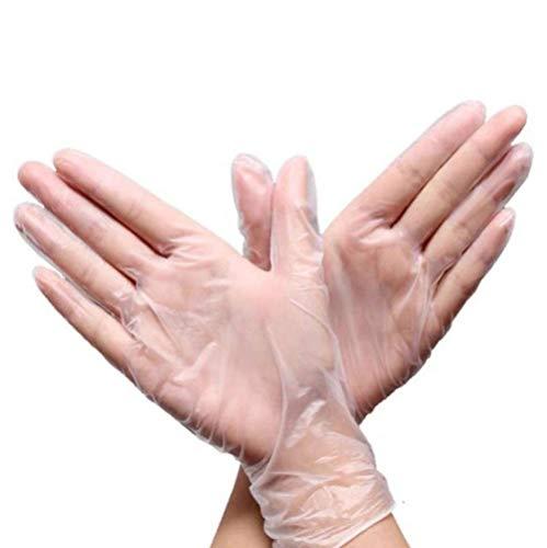Wegwerphandschoenen, 100/200 stuks, transparante wegwerphandschoenen voor vaatwasser/keuken/rubberhandschoenen, universeel voor huishoudelijk schoonmaken Medium 100 stuks.