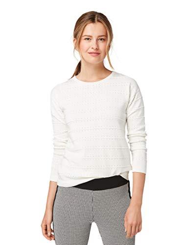 TOM TAILOR dames gestructureerd katoen sweatshirt
