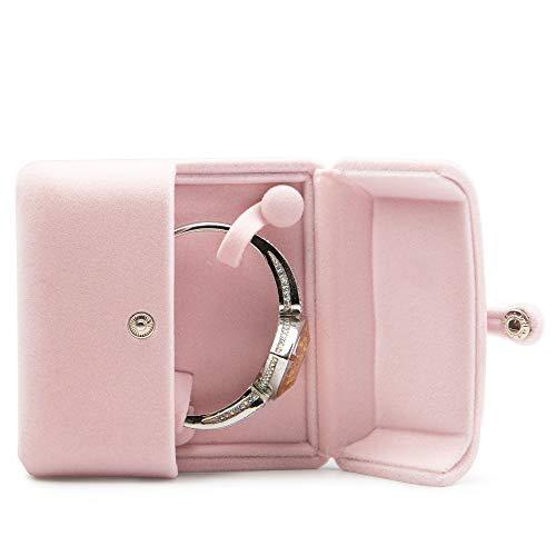 Oirlv Rosa pluche sieraden verpakking doos voor oorbellen hanger trouwring met gesp sieraden geschenkdoos (armband box)