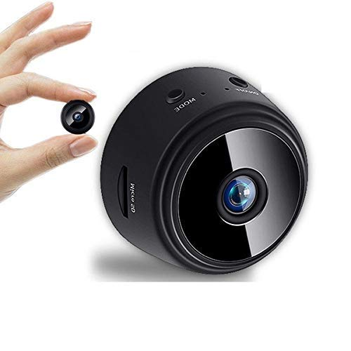 Eyetech Mini Spy Magnet Camera WiFi Hidden Camera Wireless HD 1080P Indoor Home Small Spy Cam Security Cameras Nanny Cam Built-in Battery with Motion Detection Night Vision (Black)