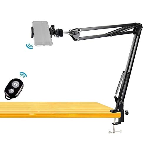 Phone Video Stand,Overhead Camera Mount with Bluetooth Remote Shutter for Baking Crafting Drawing Sketching Recording,Live Streaming,Online Teaching - Acetaken