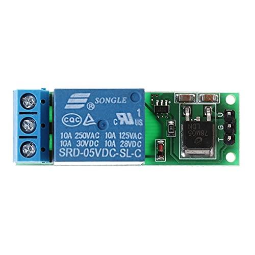 JIANGFBH Relé 6-24V Flip-Flop Latch Relay Biestable Self-Locking Pulse Trigger Module W-Store OCT25_A