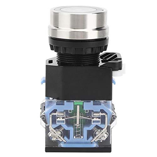 Interruptor de botón sin luz, GQ38 AC220V Botón de parada de emergencia en forma de hongo para caja de interruptor de parada de emergencia en el hogar(Reset)