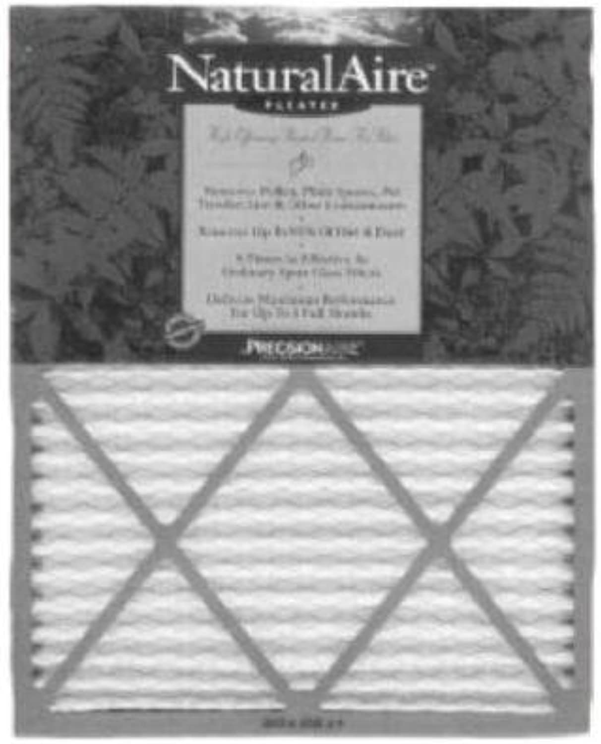 20  x 20  x 1 , Merv 8 Naturalaire Standard Pleated Media Home Furnace Air Filter, Box of 12 Filters