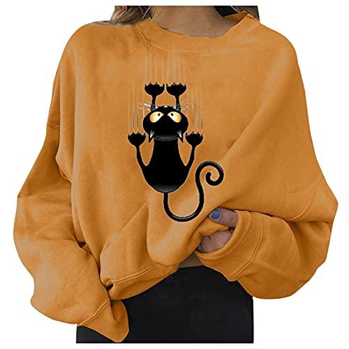 여성 가을 크루넥 스웨터 탑 캐주얼 롱 슬리브 패션 오버사이즈 컴피 풀오버 셔츠