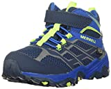 Merrell girls M-moab Fst Mid a/C Wtrpf Hiking Shoe, Navy/Cobalt, 2 Little Kid US