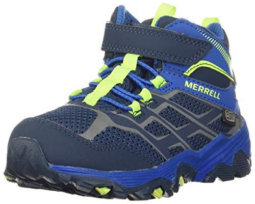 Merrell girls M-moab Fst Mid a/C Wtrpf Hiking Shoe, Navy/Cobalt, 11.5 Wide Little Kid US