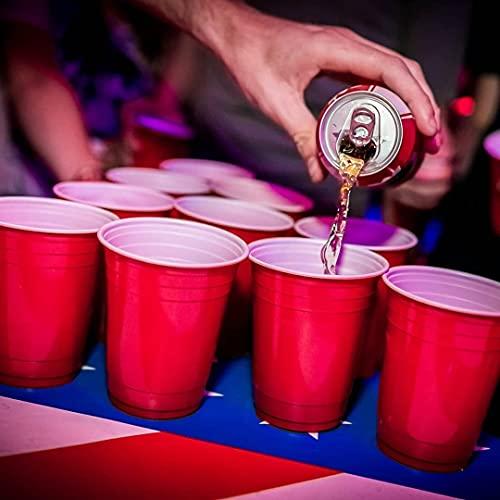 Copo Americano 25un Beer Pong Red Cup Vermelho Azul Preto