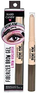ONLY 1 IN PACK Hard Candy Brows Now Fiberized Brow Gel & Brow Highlighter, #850 Medium /Dark