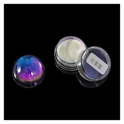 VIAIA Galaxia camaleón Pigmento colorante Escamas mágicas Resina Color Cambio Cromo Pigmento decodificador joyería Haciendo Colorear Resina UV (Color : 2)
