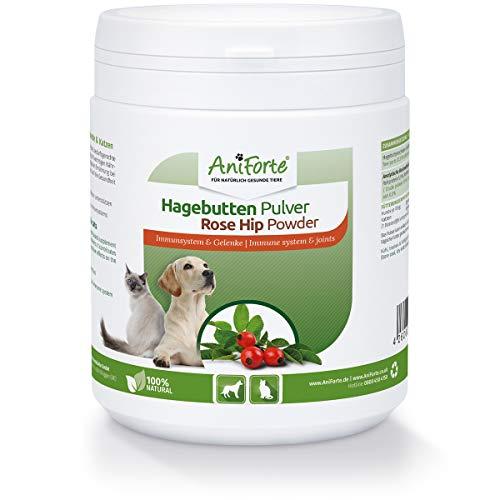 AniForte Hagebuttenpulver für Hunde und Katzen 500g – Natürliches Gelenkpulver & Immunsystem stärken, Galaktolipide für Gelenke & wichtige Vitamine & Pflanzenstoffe für Abwehrkräfte