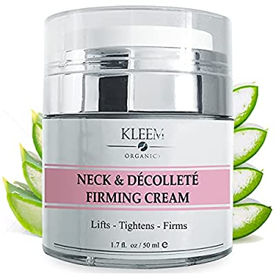 Kleem Organics Neck and Chest Firming Cream with Peptides and Retinol 1.7fl. oz   Neck Wrinkles Treatment for Women, Anti Aging Neck Cream - Best for Tightening Sagging Skin and Turkey Neck – MADE IN USA