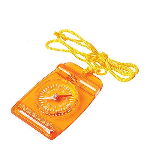 ZHANG Mini Boussole avec Carte de Base AceCamp, pour Enfants, éclaireurs, bicyclettes, Bicyclette et bicyclettes
