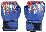 Ducomi - Guantes de Boxeo para Niños con Muñequera Ajustable, Protección de Nudillos Durante el Combate, Agarre, Puñetazos, Adecuados para Niños de 3 a 12 Años, MMA, Muay Thai, Kick Boxing 8 oz (Azul)