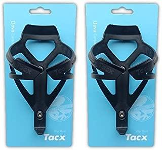 Tacx Deva Water Bottle Cages - Matte Black- Pair (2 Cages)